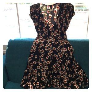 Flowered wrap style dress